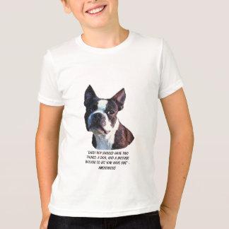 ボストンブルテリアのワイシャツ Tシャツ