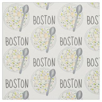 ボストンマサチューセッツクラムチャウダーのグルメスープMA ファブリック