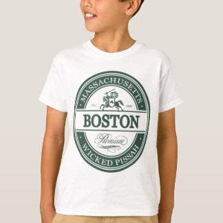 ボストンマサチューセッツ-悪賢いpissah tシャツ