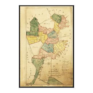 ボストンマサチューセッツ(1805年)の地図 キャンバスプリント