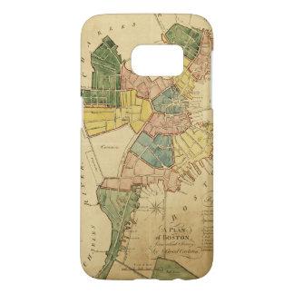 ボストンマサチューセッツ(1805年)の地図 SAMSUNG GALAXY S7 ケース
