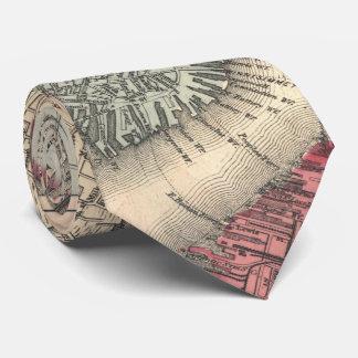 ボストンマサチューセッツ(1871年)のヴィンテージの地図 カスタムタイ