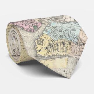 ボストンマサチューセッツ(1896年)のヴィンテージの地図 ネックウェアー