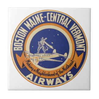 ボストンメイン中央ヴァーモント航空路のロゴ タイル