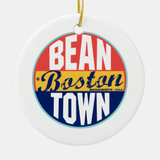 ボストンヴィンテージのラベル セラミックオーナメント