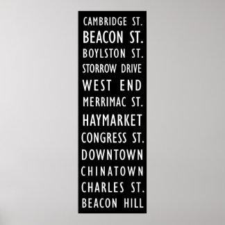 ボストンヴィンテージの運輸スクロールポスター ポスター