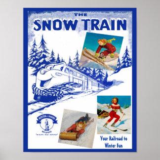 ボストン及びメインの鉄道雪の列車旅行ポスター ポスター