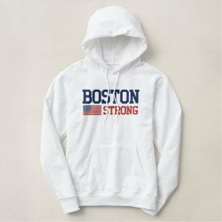 ボストン強い米国旗の刺繍 刺繍入りパーカ