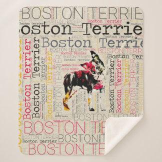 ボストン愛らしいテリア シェルパブランケット