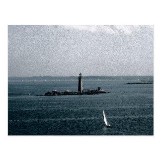 ボストン港の墓ライト ポストカード