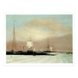 ボストン港1835年 ポストカード