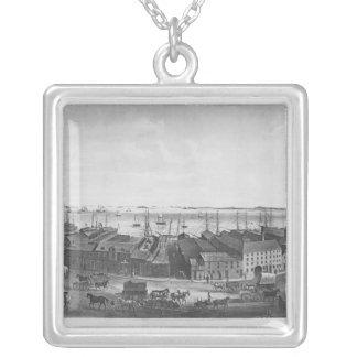 ボストン港1854年 シルバープレートネックレス