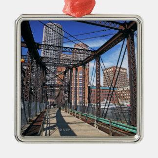ボストン財政地区が付いている鉄の歩道橋 メタルオーナメント