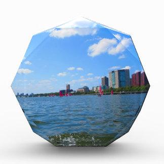 ボストン都市アメリカの旅行の窓の眺めを引込めて下さい 表彰盾