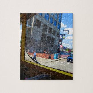 ボストン都市アメリカ米国の観光バスの窓の眺め ジグソーパズル