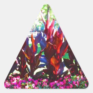 ボストン都市カラフルからの花はnの庭を駐車します 三角形シール