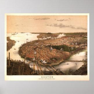 ボストン1877年の再生の石版 ポスター