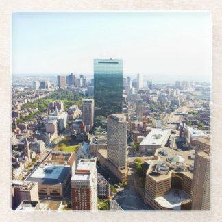 ボストン2の空中写真 ガラスコースター