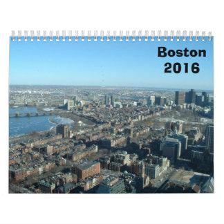 ボストン2016年 カレンダー