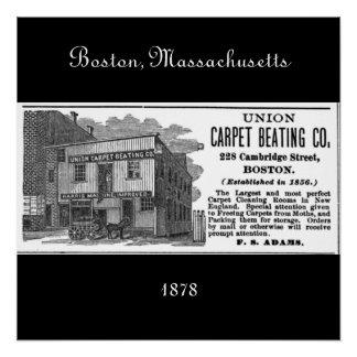 ボストン、マサチューセッツ1878年 ポスター