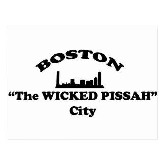 """ボストン""""悪賢いPissah""""都市 ポストカード"""