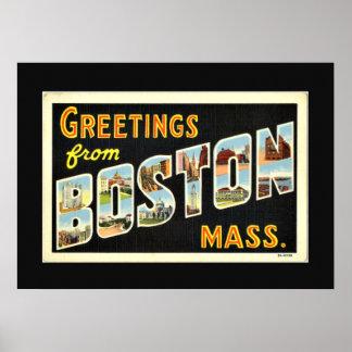 ボストン、Mass.からの挨拶 ポスター