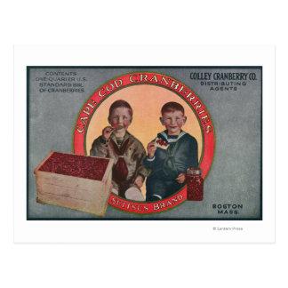 ボストンSuitsusブランドのクランベリーのラベル ポストカード