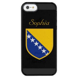 ボスニアのカスタマイズ旗 クリア iPhone SE/5/5sケース