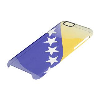 ボスニアの光沢のある旗 クリアiPhone 6/6Sケース
