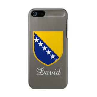 ボスニアの名前入りな旗 メタリックiPhone SE/5/5sケース