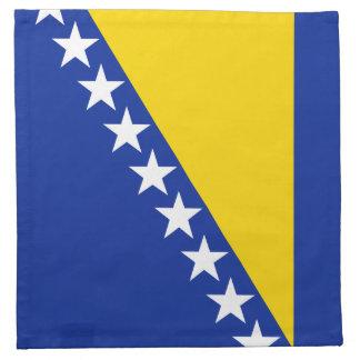ボスニアの旗のナプキン ナプキンクロス