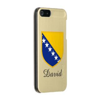 ボスニアの旗 メタリックiPhone SE/5/5sケース