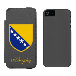 ボスニアの旗 INCIPIO WATSON™ iPhone 5 財布 ケース
