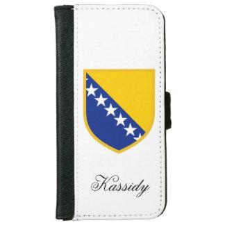 ボスニアの旗 iPhone 6/6S ウォレットケース