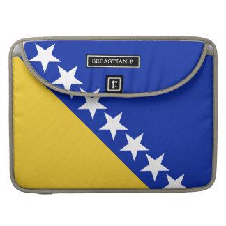 ボスニアの旗 MacBook PROスリーブ
