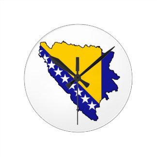 ボスニアの柱時計 ラウンド壁時計