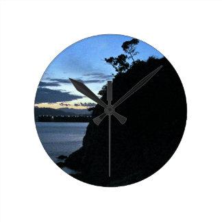 ボスニアの石 ラウンド壁時計