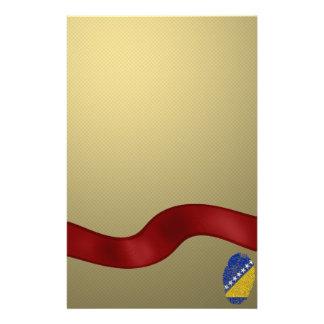 ボスニアのtouchの指紋の旗 便箋