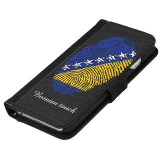 ボスニアのtouchの指紋の旗 iPhone 6/6s ウォレットケース