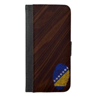 ボスニアのtouchの指紋の旗 iPhone 6/6s plus ウォレットケース