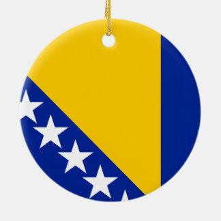 ボスニア・ヘルツェゴビナのオーナメントの旗 セラミックオーナメント