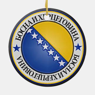 ボスニア・ヘルツェゴビナの円形の紋章 セラミックオーナメント