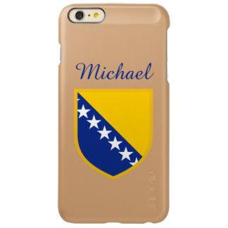 ボスニア・ヘルツェゴビナの名前入りな旗 INCIPIO FEATHER SHINE iPhone 6 PLUSケース