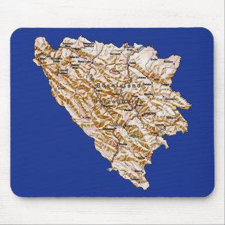 ボスニア・ヘルツェゴビナの地図のマウスパッド マウスパッド