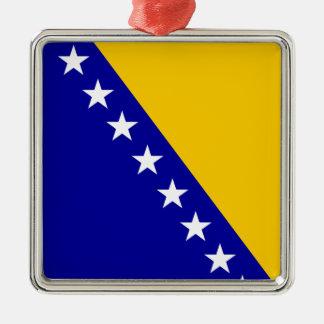 ボスニア・ヘルツェゴビナの旗 メタルオーナメント