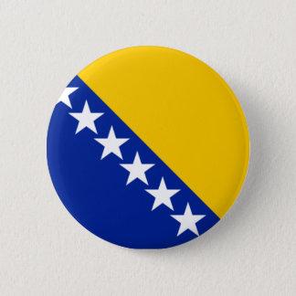 ボスニア・ヘルツェゴビナの旗 5.7CM 丸型バッジ