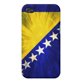 ボスニア・ヘルツェゴビナの旗 iPhone 4 カバー
