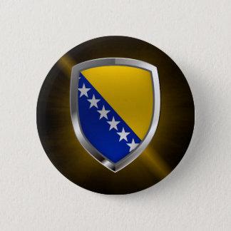 ボスニア・ヘルツェゴビナの金属紋章 5.7CM 丸型バッジ