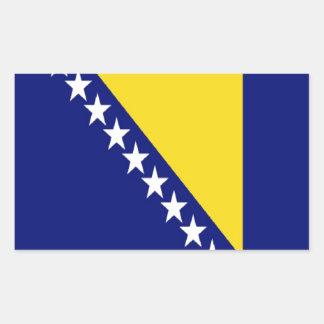 ボスニア・ヘルツェゴビナは印を付けます 長方形シール