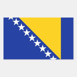 ボスニア・ヘルツェゴビナはBosnian//Herzegovinianに印を付けます 長方形シール